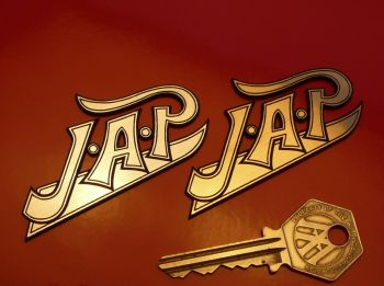 "JAP Logo Style Laser Cut Self Adhesive Bike Badge. 1.75"" or 2.75""."