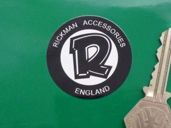 "Rickman Accessories England Circular Stickers. 1.75"" Pair."