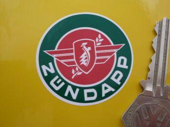 "Zündapp Logo Circular Stickers. 1.75"" Pair."