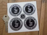 Sunbeam Rootes Group Wheel Centre Stickers. Set of 4. 40mm or 50mm.