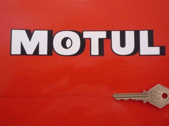"Motul Shaded Text Shaped Stickers. 7"" Pair."