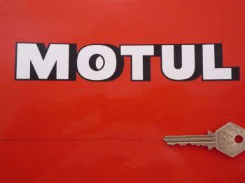 """Motul Shaded Text Shaped Stickers. 7"""" Pair."""