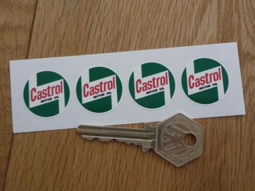 Castrol Motor Oil Historic 50's Style Stickers. 1