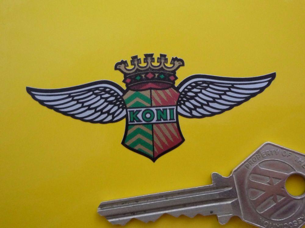 "Koni 'King Wings' Shaped Stickers. 3"" Pair."