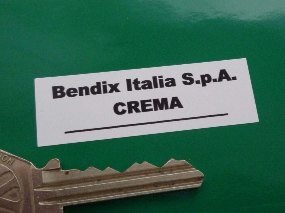 Bendix Italia S.p.A. Crema Black & White Servo Stickers. 56mm Pair.