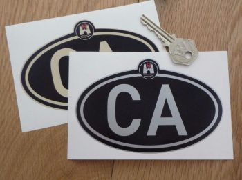 """VW Volkswagen Wolfsburg CA California ID Plate Sticker. 5""""."""