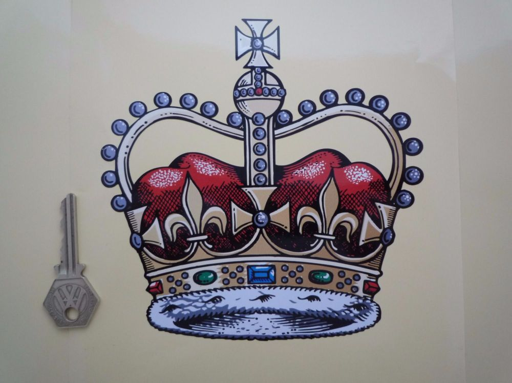 """Royal Crown Official British Vehicles GPO etc  Sticker. 4"""" or 6""""."""
