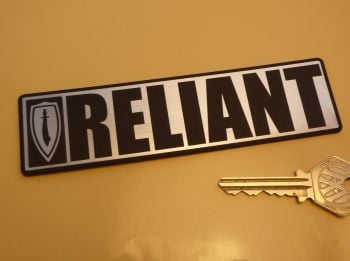 "Reliant Scimitar Oblong Body Badge Style Self Adhesive Car Badge. 5.5""."