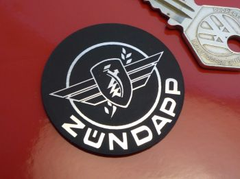 "Zündapp Logo Style Laser Cut Self Adhesive Bike Badge. 2""."