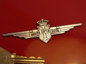"Touring Superleggera Laser Cut Self Adhesive Car Badge. 4""."