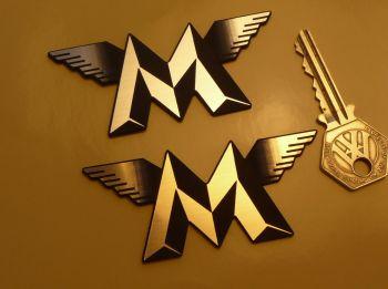 "Matchless Winged M Laser Cut Self Adhesive Bike Badge. 3.25""."