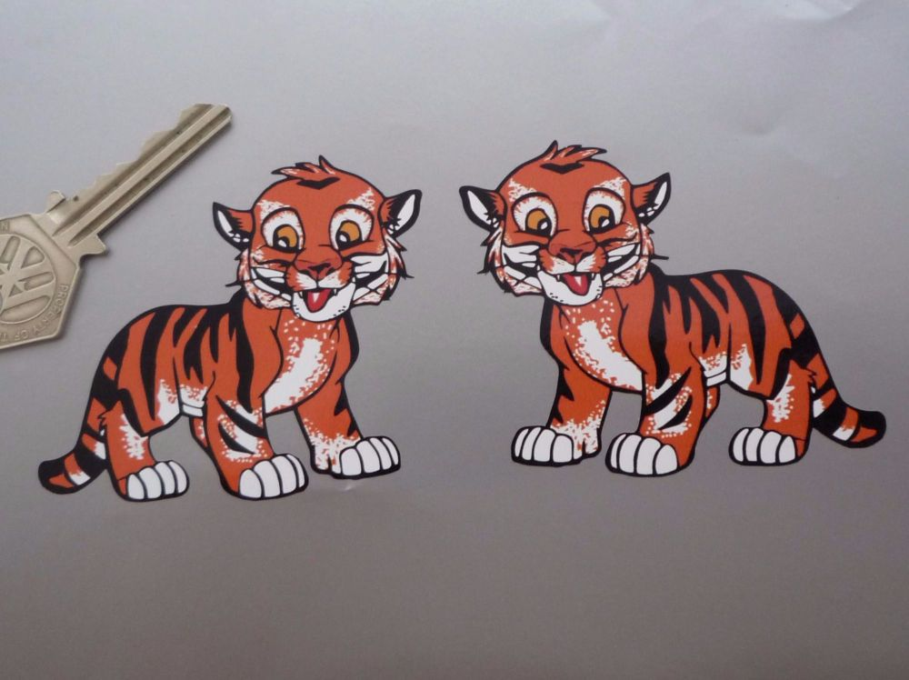"Tiger Cub Stickers. 3"" Pair."