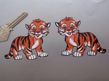 "Tiger Cub Stickers. 3"" Pair."