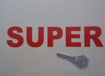 "Shell Style Super Cut Text Sticker. 7""."