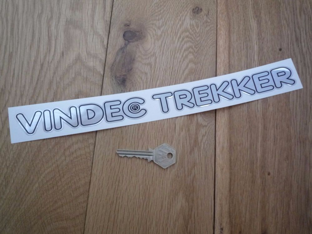 "Vindec Trekker Text Foil Style Sticker. 12""."