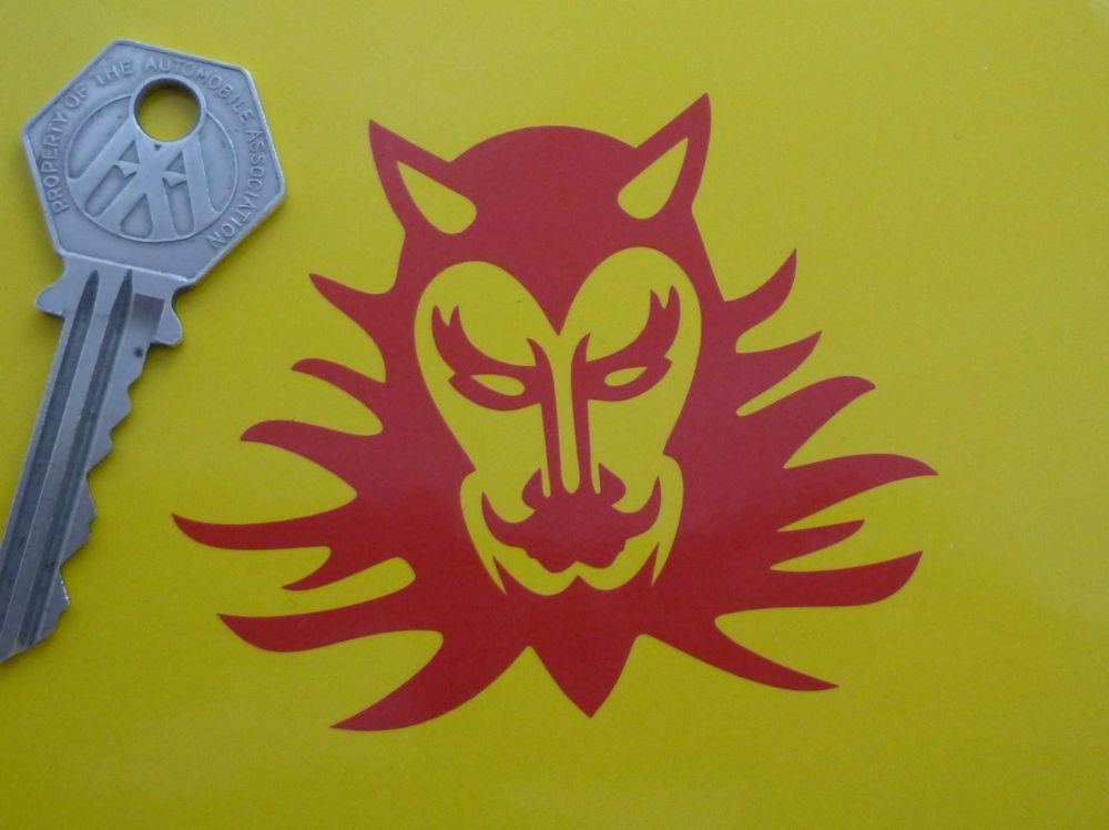 "Red Devil Cut Vinyl Sticker. 3""."