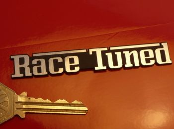 "Race Tuned Laser Cut Self Adhesive Car Badge. 3.5""."