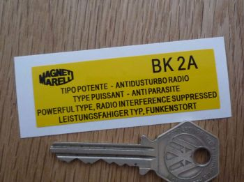 "Magneti Marelli BK2A Antidusturbo Radio Coil Sticker. 2.75""."