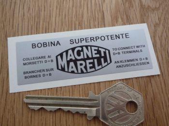"""Magneti Marelli Bobina Superpotente Coil Sticker. 3""""."""