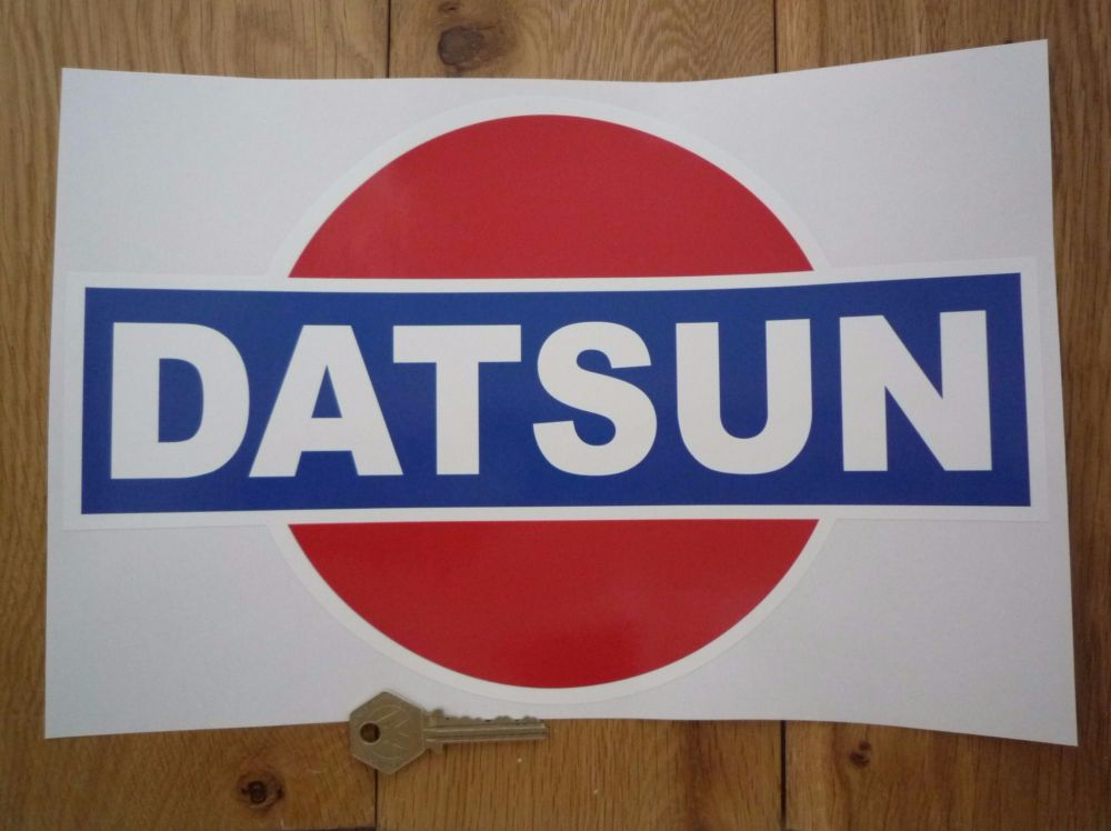 "Datsun Rising Sun Colour Sticker. 12""."