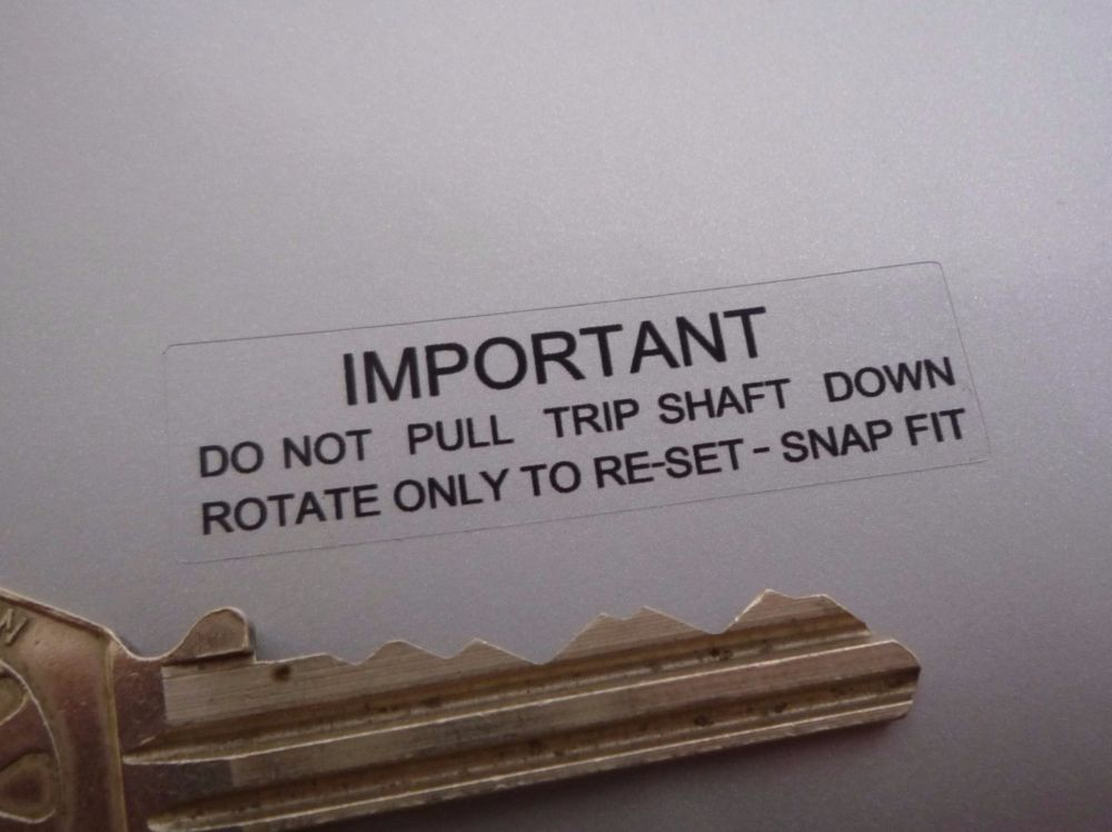 Speedo Trip Reset Smiths Chronometric Smaller Style Sticker. 1.75