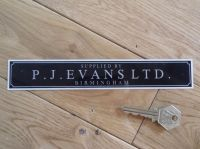 P.J.Evans Ltd. Birmingham Dealers Window Sticker. 7.5