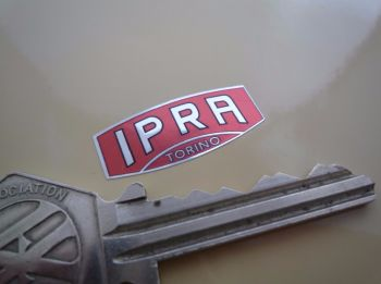 "IPRA Torino Red, Black, & Foil Shaped Sticker. 1""."