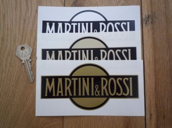 "Martini & Rossi Logo Stickers. 6"" Pair."