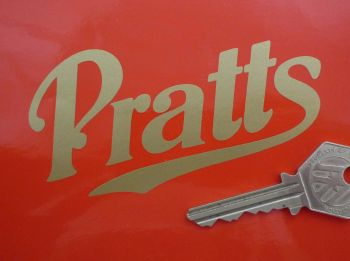 "Pratt's Perfection Motor Spirit Cut Vinyl Sticker. 4"", 6"", 8"" or 12""."
