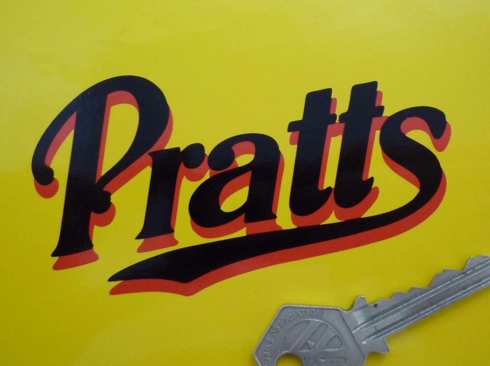 "Pratt's Perfection Motor Spirit Printed Cut Vinyl Sticker. 4"", 6"", 8"" or 12""."
