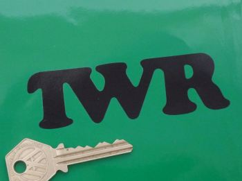 "TWR Tom Walkinshaw Racing Cut Vinyl Stickers. 4"" Pair."