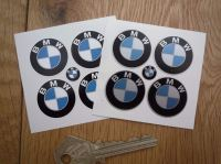 BMW Flat Colour Roundel Stickers. Set of 4. 25mm.