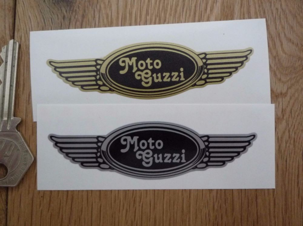 Moto Guzzi Winged Helmet Sticker. 3.5