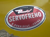 Bendix Servofreno Oval Foil Sticker. 3