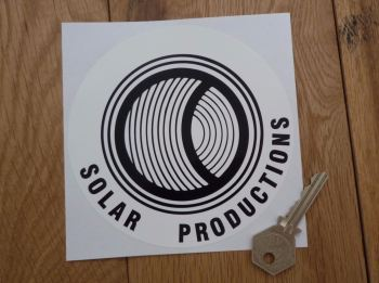 "Solar Productions Circular Sticker. 5""."