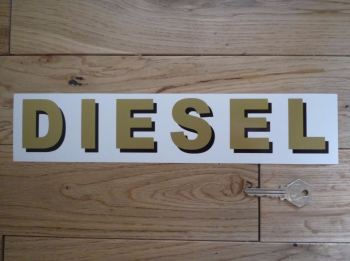 "Diesel Shaded Style Cut Text Petrol Pump Sticker. 12""."