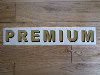 "Premium Shaded Style Cut Text Petrol Pump Sticker. 15.5""."