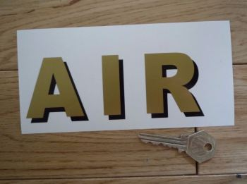 "Air Shaded Style Cut Text Sticker. 5.75""."