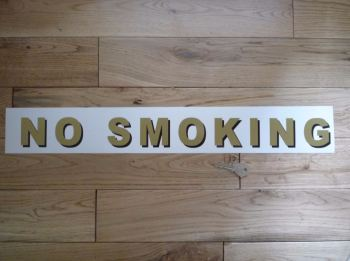 "No Smoking Shaded Style Cut Text Sticker. 21.5""."