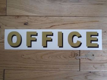 """Office Shaded Style Cut Text Sign Sticker. 11.75""""."""