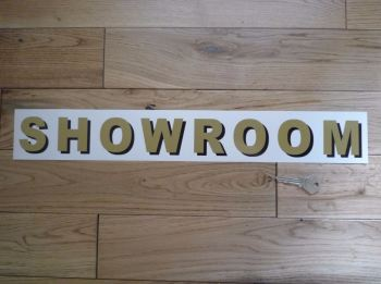 """Showroom Shaded Style Cut Text Sign Sticker. 19.25""""."""