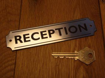 "Reception Wall Plaque or Door Sign. 5.5""."