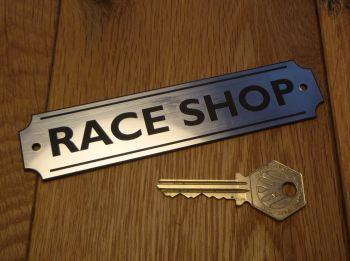 """Race Shop Wall Plaque or Door Sign. 5.5""""."""
