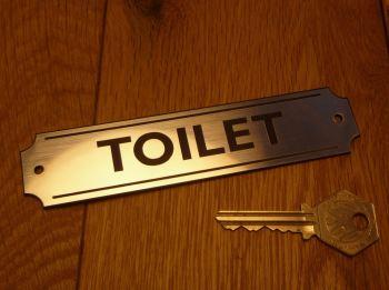 """Toilet Wall Plaque or Door Sign. 5.5""""."""