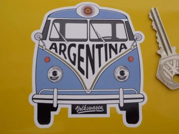 "Argentina Volkswagen Campervan Travel Sticker. 3.5""."