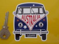 Australia Volkswagen Campervan Travel Sticker. 3.5