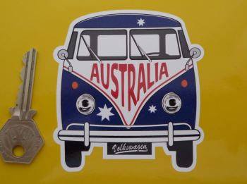 "Australia Volkswagen Campervan Travel Sticker. 3.5""."