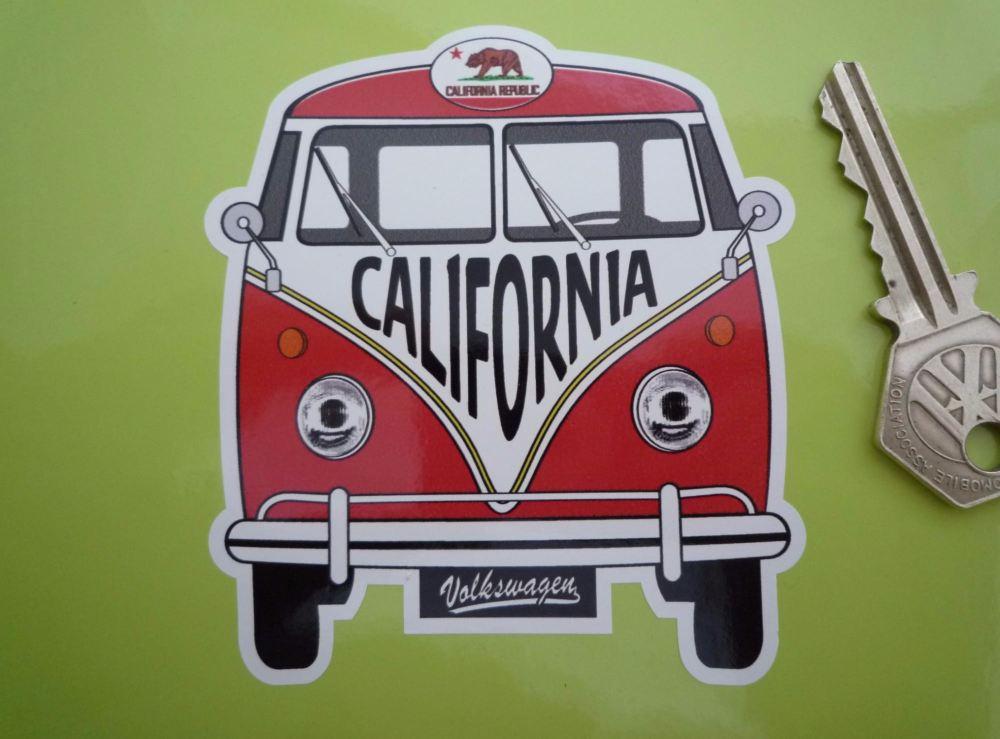California Volkswagen Campervan Travel Sticker. 3.5