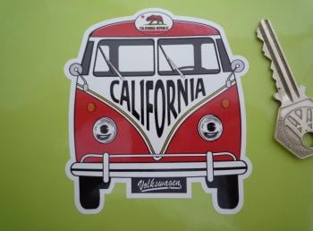 "California Volkswagen Campervan Travel Sticker. 3.5""."