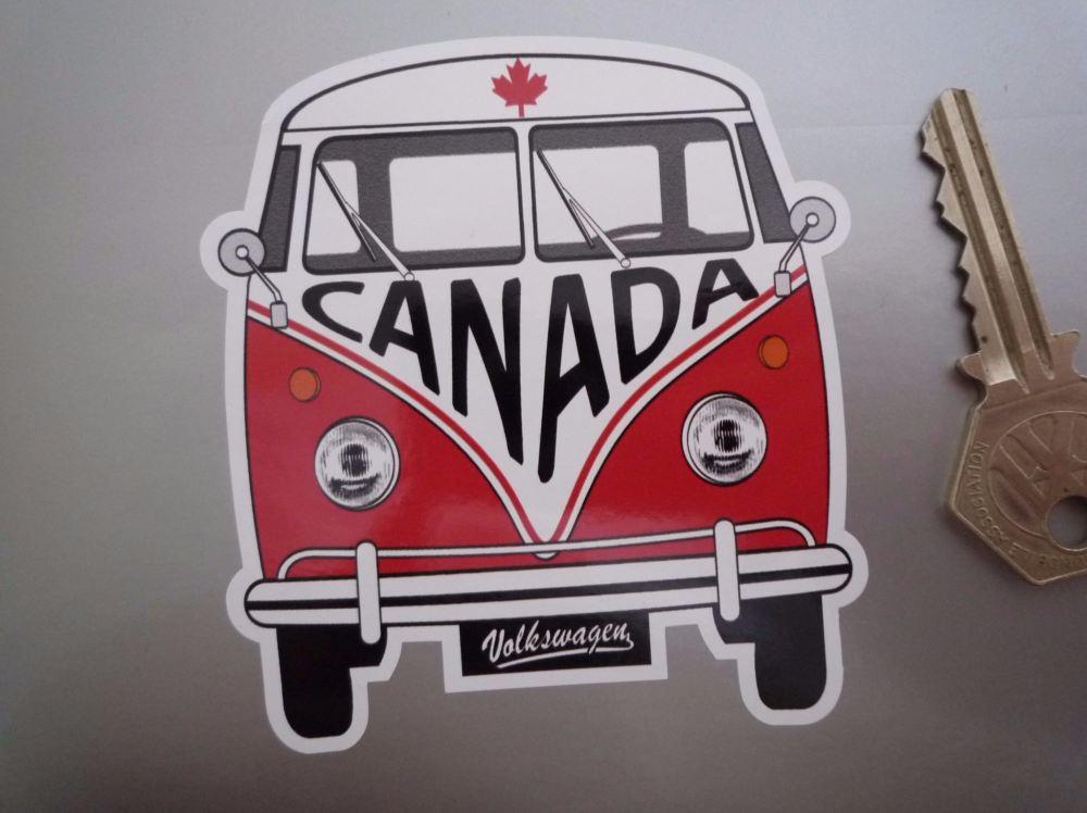 "Canada Volkswagen Campervan Travel Sticker. 3.5""."